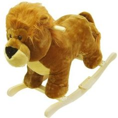 Happy Trails Plush Rocking Lion - Yee-ha, it's the king of the jungle! Your little cowboy or cowgirl will have a rootin-tootin good time with this plush Rocking Lion from Happy Trails. Hand crafted with a wood core and stands on sturdy wooden rockers. Plush Rocking Horse, Little Cowboy, Happy Trails, Safari Nursery, Ride On Toys, Plush Animals, Baby Animals, Tigger, Lions