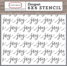 Joy Stencil - Christmas Delivery - Carta Bella