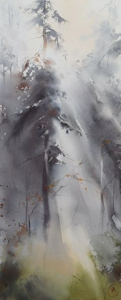 Ilya Ibryaev - AWAKENING - watercolor (54х23) cm