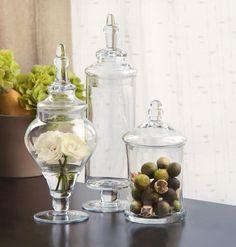 Cheap Apothecary jars for bathroom organization