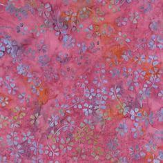 Timeless Treasures Pashmina Tonga Batiks Pink Calico Vine Floral