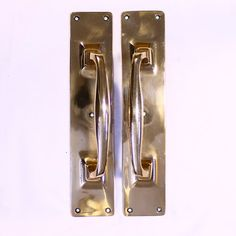 A pair of very heavy, super quality, solid cast bronze door handles. 3 pairs available at £45 each