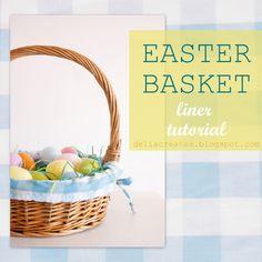 Easter Basket Liner Tutorial - delia creates