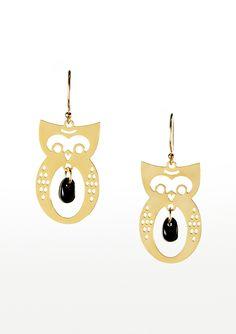 Kris Nations Small Owl Earrings