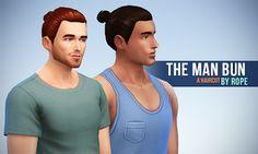 My Sims 4 Blog: The Man Bun Hair by Rope