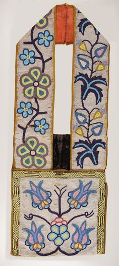 A CHIPPEWA BEADED BANDOLIER BAG. . c. 1900. ... American Indian | Lot #77363 | Heritage Auctions