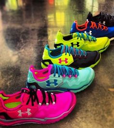 Awesome bright sneakers from Under Armour