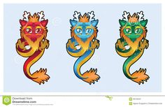 Image result for cute vector dragon