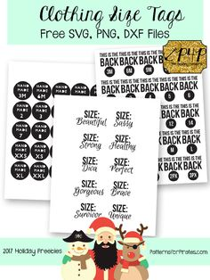 Freebie! This includes a zipped download with .png, .svg and .dxf files that you can use as templates for clothing tags in your handmade items! You can grab the download here and find the instructions here in Katy's blog!