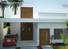 Projeto do casa com telhado escondido