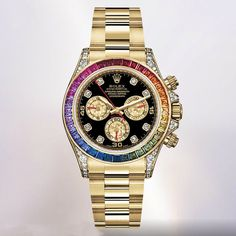 Ref. 116598 Rainbow yellow gold with diamonds and sapphires. New Basel 2012