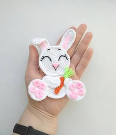 PATTERN Rabbit Applique Crochet Pattern PDF Woodland Animals