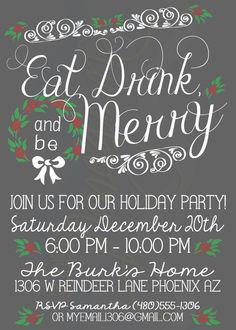 Printable Holiday/Christmas Party Invitation by RiverMamasDesigns