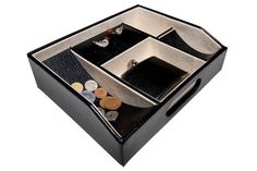 The McQueen Dresser Valet Tray. Leather.