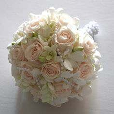 Wedding bouquet - I like the different flowers in this bouquet