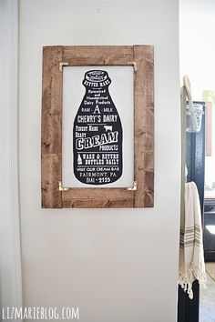 Like this idea on how to make a simple frame