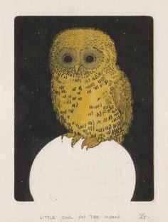 'Little Owl on the Moon' by Leah Rainey