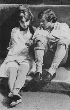 Roman Polanski  & Sharon Tate on the set of The Fearless Vampire Killers