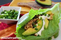 PEANUT BUTTER AND FITNESS: Slow Cooker Chicken and Black Bean Lettuce Wraps