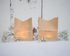 DIY Wedding Luminaria Place Card