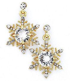 961241ade Christmas Jewelry, Crystal Earrings, Dangle Earrings, Bracelet Watch,  Snowflakes, Dangles, Snow Flakes, Drop Earrings