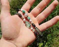 Beaded Bracelets, Turquoise, Rings, Etsy, Jewelry, Fashion, Moda, Jewlery, Jewerly
