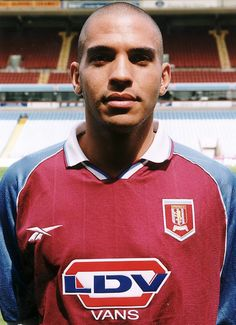 Stan Collymore in 1998 Football Shirts, Football Players, Aston Villa Fc, Best Club, West Midlands, Premier League, The Past, Polo Ralph Lauren