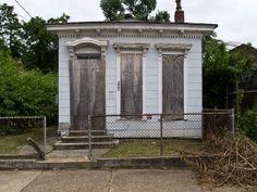 """""""Shotgun House"""" -- [Portland Neighborhood - Louisville, Jefferson County, Kentucky]~[Photograph by C McSheridan - June 18 2011]'h4d-57.2013'"""
