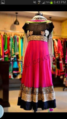 Gorgeous desi frock with stunning work