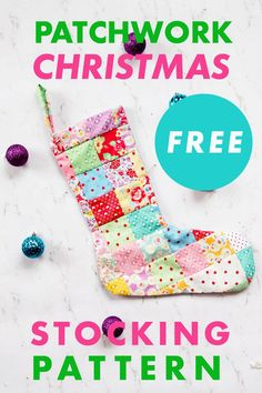 Sew a Patchwork Quilt Christmas Stocking with this FREE Christmas Stocking Sewing Pattern. The Christmas Stocking Pattern comes with two options. Make either a basic Flannel DIY Christmas Stocking or make a crazy quilt Christmas Stocking. Get the pattern now! Christmas Sewing Patterns, Christmas Sewing Projects, Christmas Stocking Pattern, Diy Christmas, Beginner Quilting, Quilting For Beginners, Quilting Tips, Quilted Christmas Stockings, Sewing Projects For Beginners