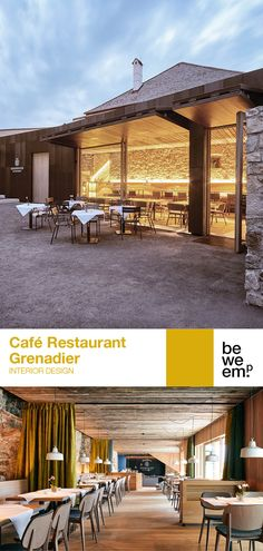 The Café Restaurant Grenadier at the majestic Burg Forchtenstein is directly adjacent to the castle walls. The interior design cites elements of the historical castle such as oak parquet, masonry and riveted iron fittings and marries these with modern architecture. The result is a design that is both timeless and effortless. PROJECT_Café Restaurant Grenadier DEPARTMENT_Interior Design LOCATION_Burg Forchtenstein Images: © Paul Szimak Cafe Restaurant, Castle Wall, The Office, Modern Architecture, Pergola, Walls, Iron, Outdoor Structures, Interior Design