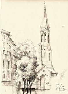 lausitzer Kirche by catilustre, via Flickr