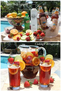 Berry Beer Sangria is perfect for the beer lover who wants to shake it up a little. It's the perfect beer drink recipe for a BBQ cocktail, pool party, or just for having friends over on a hot summer day or night.