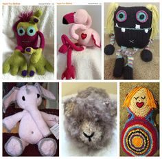 Give the gift of snuggle!  Handmade is a gift of love. #crochet #knitting #plushies #organictoys #christmas #handmade #gifts#monsters#flamingos#guinea pig#doll