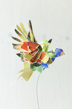 Works - Anna Wili Highfield Paper Sculpture Copper Pipe Sculpture