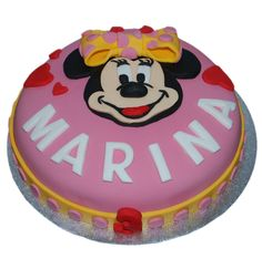 Tarta fondant de Minnie Mouse