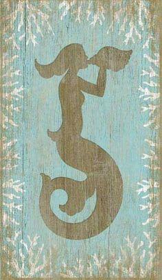 Vintage Wood Mermaid Sign: Beach Decor, Coastal Home Decor, Nautical Decor, Tropical Island Decor & Beach Cottage Furnishings, front of doors? Mermaid Sign, Mermaid Wall Decor, Mermaid Art, Mermaid Bathroom, Vintage Mermaid, Mermaid Sculpture, Mermaid Nursery, Mermaid Images, Mermaid Glitter