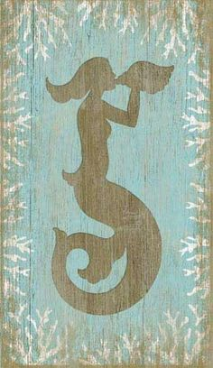 Vintage Wood Mermaid Sign: Beach Decor, Coastal Home Decor, Nautical Decor, Tropical Island Decor  Beach Cottage Furnishings