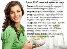 Меню на 1200 ккал в день с рецептами на неделю из простых продуктов | Простые рецепты с фото