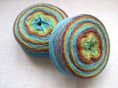 High quality European 100% WOOL yarn, 2 skeins - 400gr (2 x 200 gr). fingering. $19.99, via Etsy.