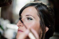 Maquillaje de novia en sombras color verde