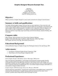 great graphic design resume examples httpwwwresumecareerinfo - Sample Graphic Design Resume
