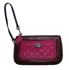 Coach Park Quilted Leather Medium Wristlet