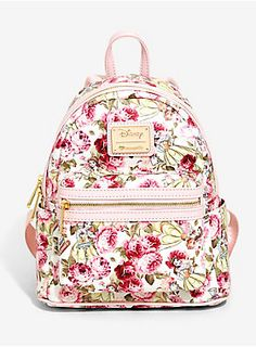 f8dff5a5b6b Loungefly Disney Beauty And The Beast Floral Mini Backpack