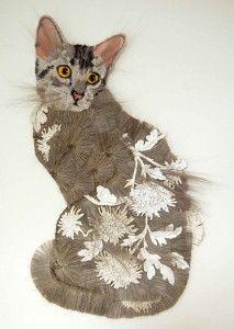 Textile artist Karen Nicol – Cat