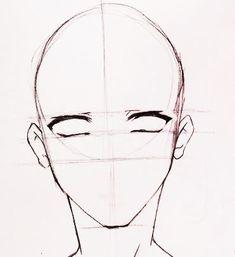 How to draw manga boy face: 12 steps . Male Face Drawing, Anime Face Drawing, Drawing Heads, Drawing Base, Guy Drawing, Cute Boy Drawing, Manga Boy, Male Manga, Wie Zeichnet Man Manga