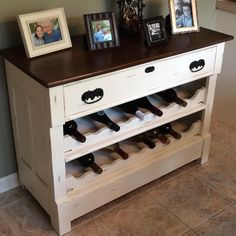 turn dresser into a wine rack