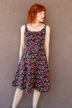 Vintage 90's Cherry Sun Dress HANDMADE on Etsy, $33.94 CAD