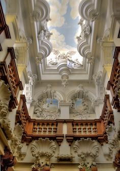 Harlaxton Manor Grand Stairwell HDR by fluffmeister1, via Flickr