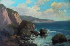 The Laguna Shoreline by A Clinton Conner, 10x15 Oil on Canvas